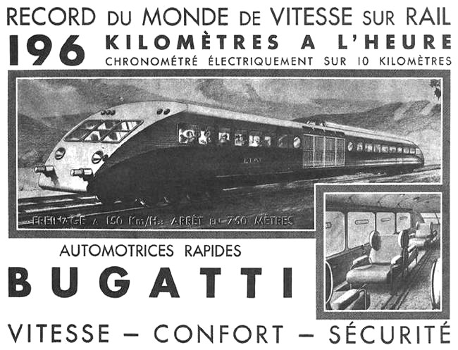 1935 Affiche Bugatti Record