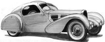 1935 Bugatti 57 Aerolithe