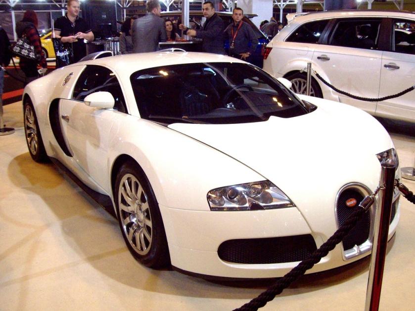 2010 Bugatti Veyron F1 Engine 7993cc W16 DOHV 64 valve Quad Turbocharged output - Veyron 987bhp