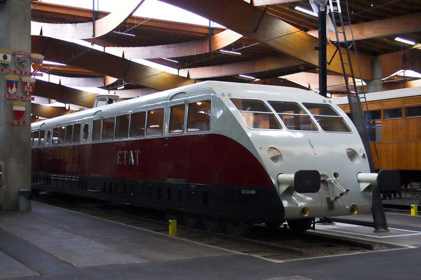 Autorail Bugatti, conservé à Mulhouse