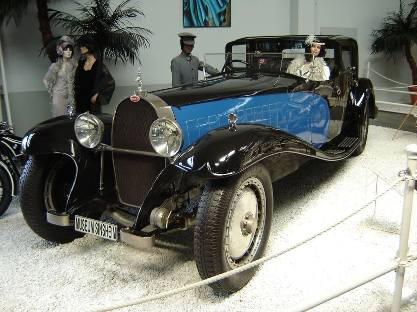 Bugatti Royale Sinsheim  Replica of Coupe Napoleon, made for the French film Rebus with an American V8 engine, now residing in the Sinsheim Auto & Technik Museum