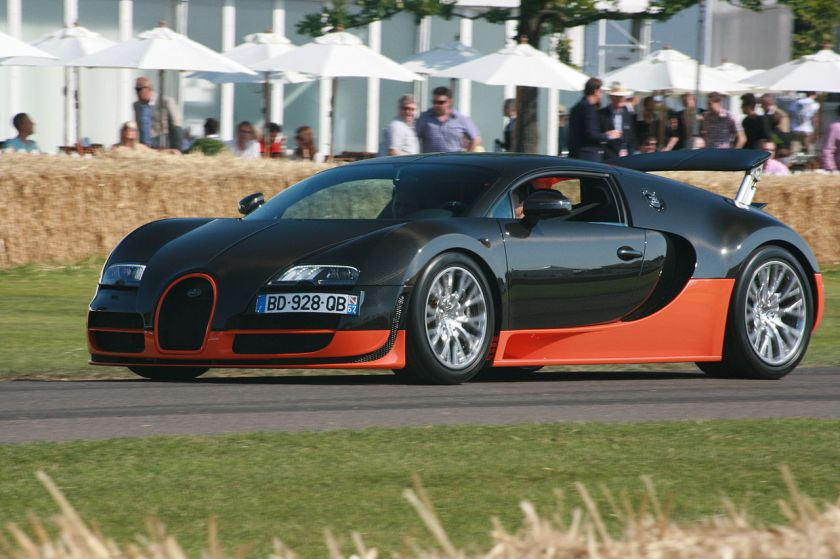 Bugatti Veyron 16.4 Super Sport World Record Edition - the fastest road legal production car reaching 431 km-h (268 mph)