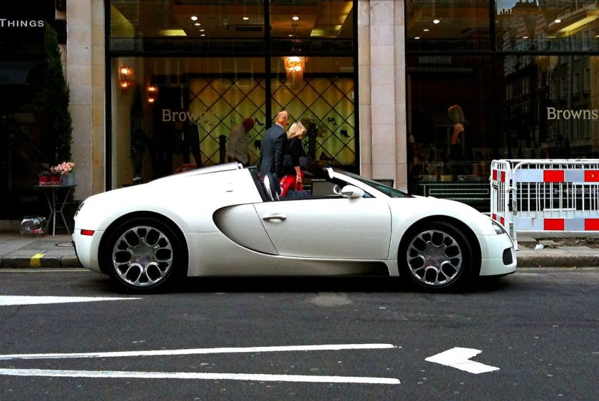 Bugatti Veyron Grand Sport, pictured in London