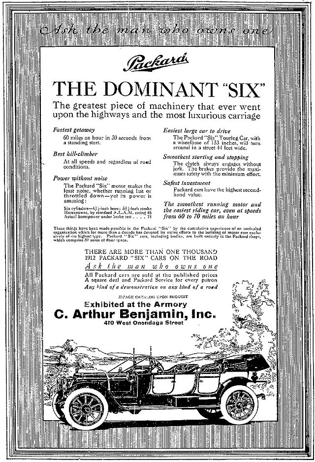 1912 Packard Advertisement - Syracuse Herald, March 14, 1912