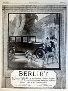 1920 Berliet ad