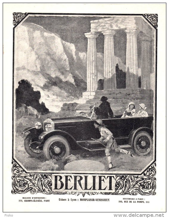 1924 ADS BERLIET Usines à Lyon Monplaisir Automobilia