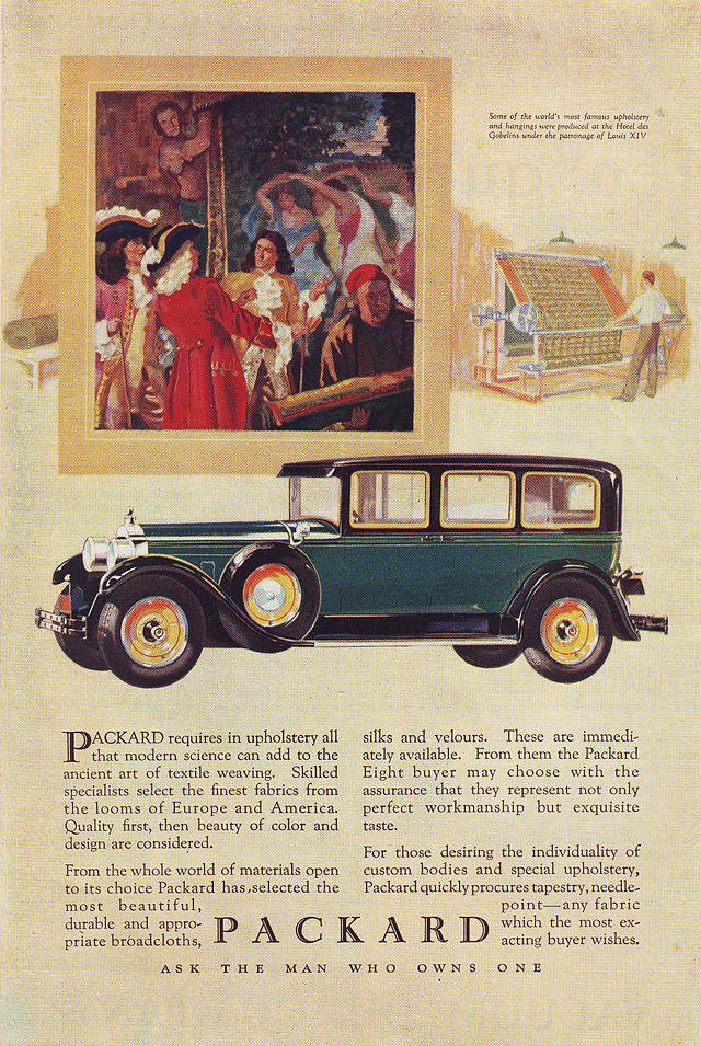 1927 Packard magazine ad