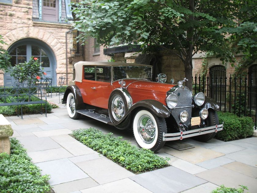 1929 Packard Custom Eight 640 4-door Convertible Sedan, Karosserie von Larkins, San Francisco