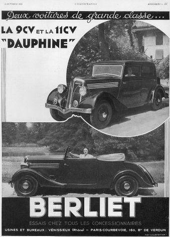 1935 Berliet Dauphine conv