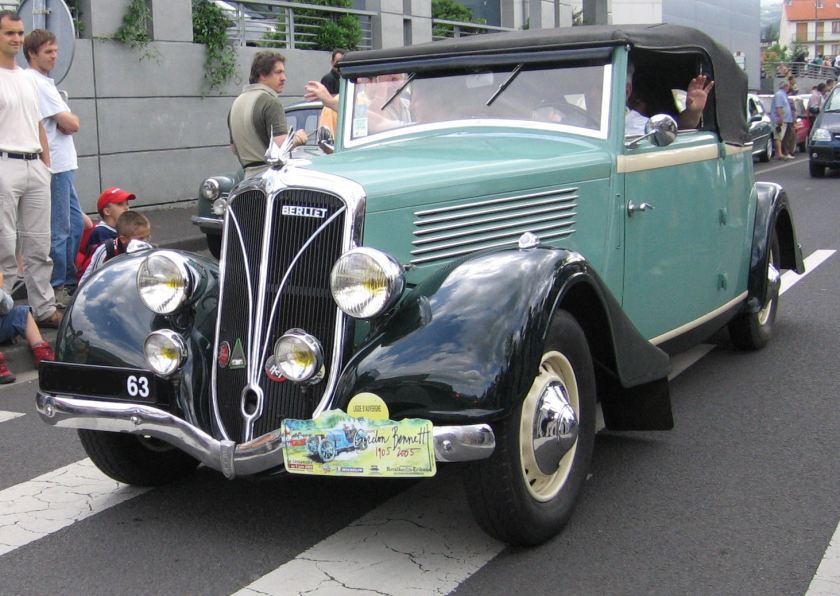 1936 Berliet car Gordon Benett