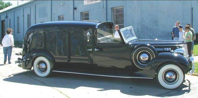 1936 Packerd open driver hearse