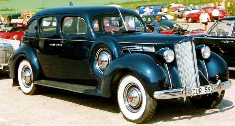 1938 Packard Sixteenth Series Eight 1601 1172 De Luxe Touring Sedan
