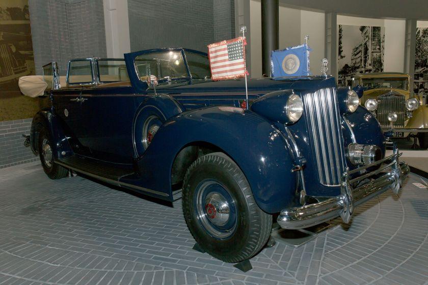 1939 Packard Twelve (17. Serie) von US-Präsident Franklin Delano Roosevelt