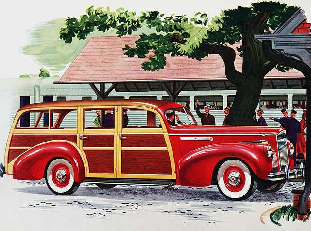 1941 Packard Station Wagon advertisement either One-Ten Model 1900 or One-Twenty Model 1901