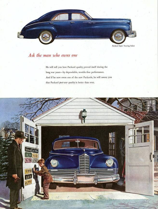 1947 Packard Ad