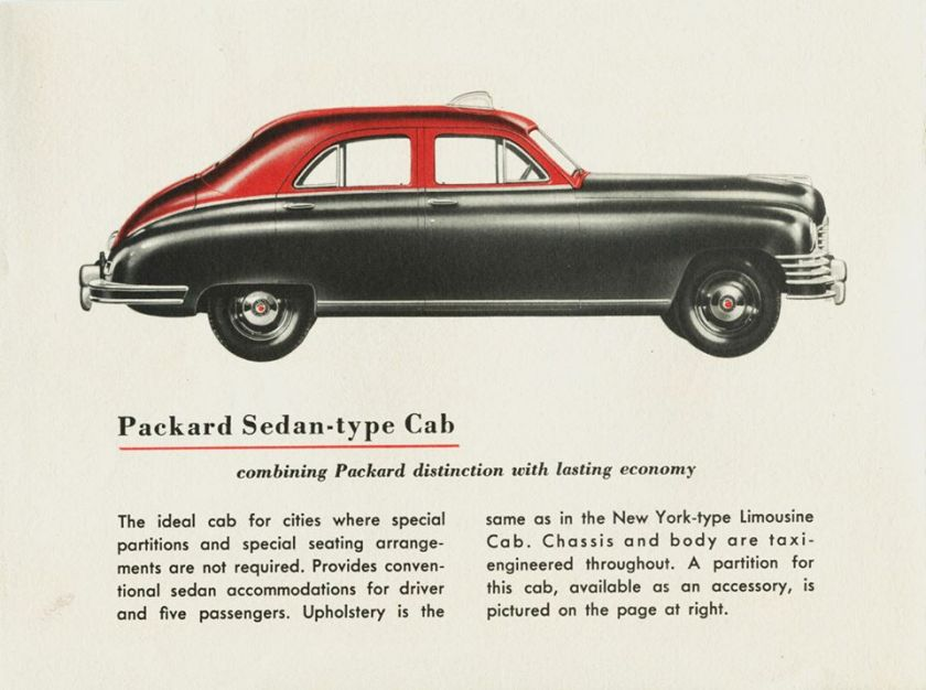 1948 Packard Sedan-Type Taxicab