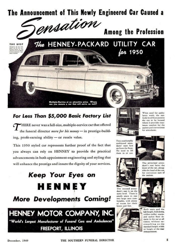 1950 Henney Packard Utility Car