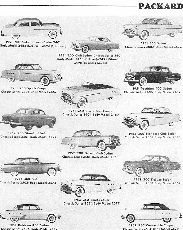 1951-52 packard