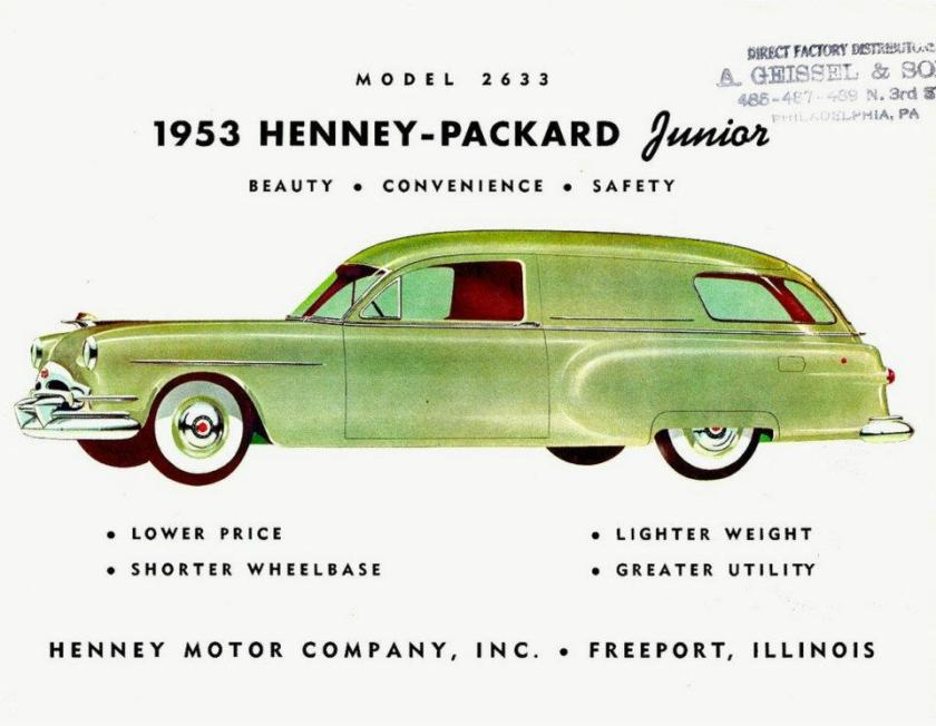1953 Packard Henney Junior model 2633