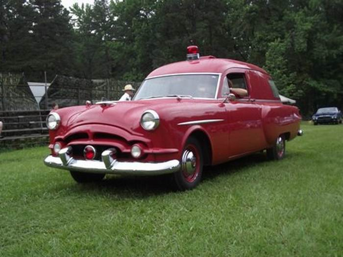 1953 Packard Henney Red