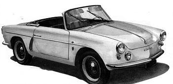 1957 alpine a 106 cabrio michelotti