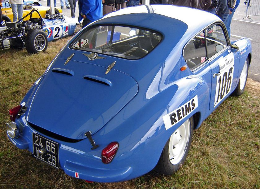 1957 Alpine A106 Coach Mille Miles rear view