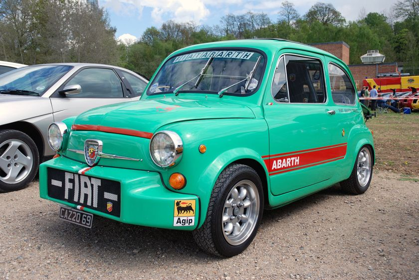 1961-67 Fiat Abarth 1000 at Brooklands, 1st May 2010