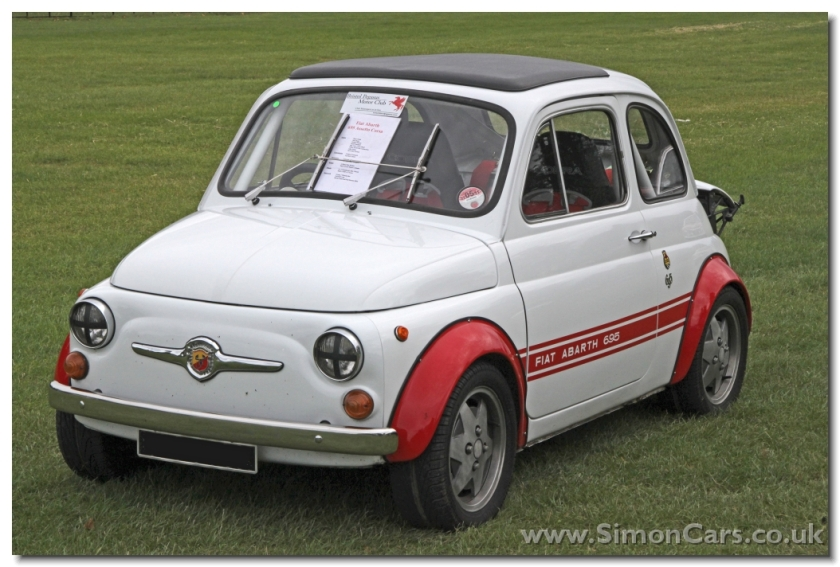 Abarth 695 SS. The origins of this Abarth as a Fiat 500 are clear in this view