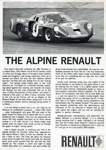 1967 Alpine Renault Lemans
