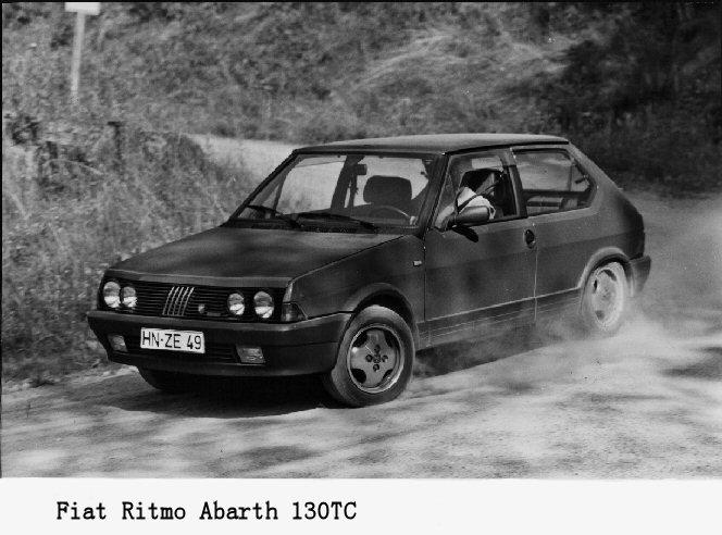 1981 Fiat Ritmo Strada Abarth 130TC