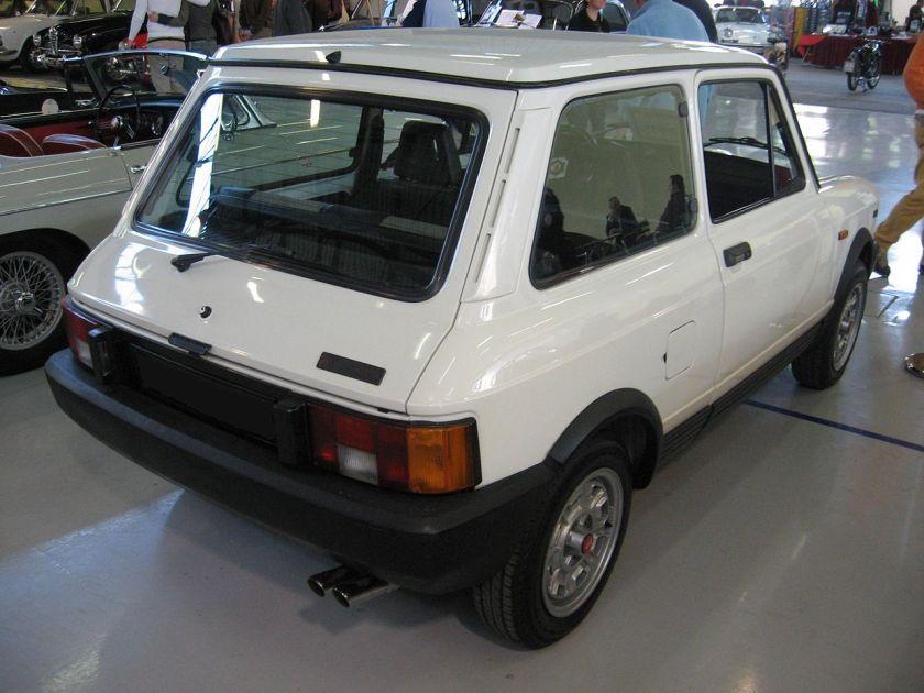 1982 Autobianchi A112-Abarth-Mk2 Rear