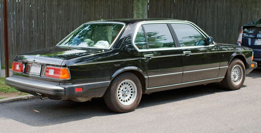1984 BMW 733i with federal bumpers