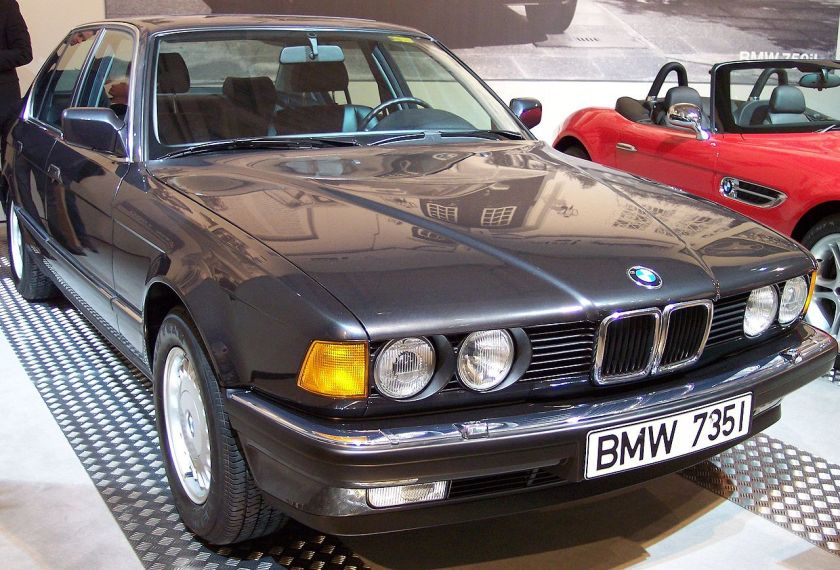 1987 BMW 735i grey vr TCE