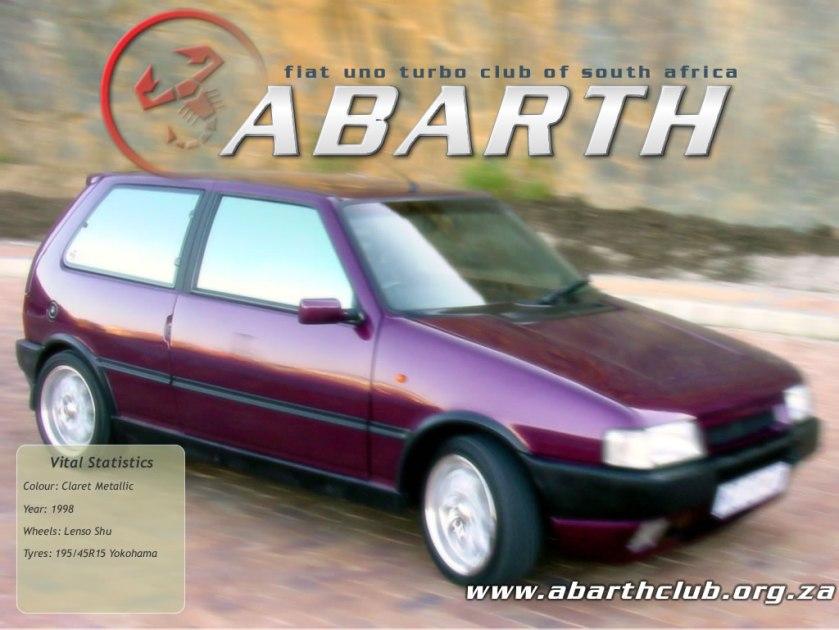 1998 Fiat Uno 1.1. Abarth