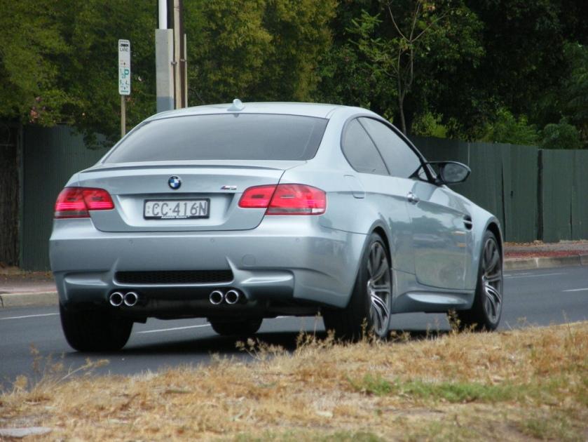 2007–2008 BMW M3 (E92) coupe (Australia)