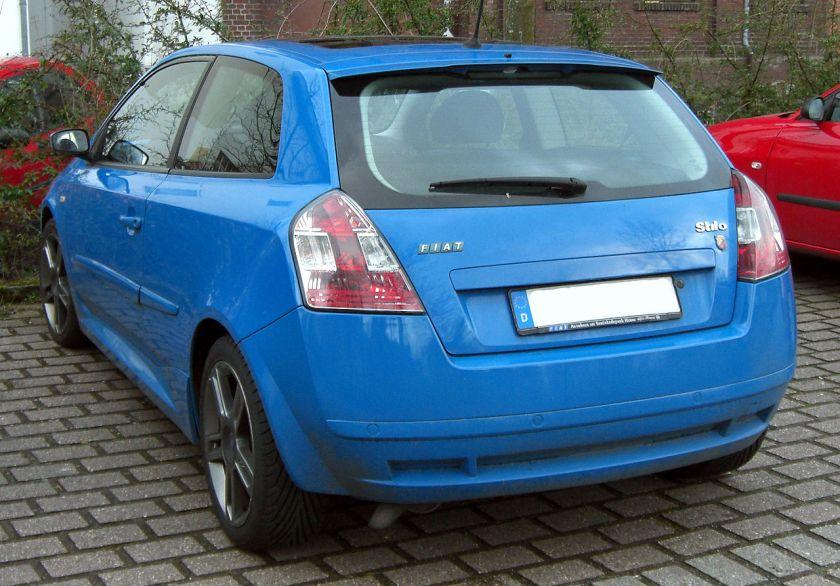 2009 Fiat Stilo Abarth rear