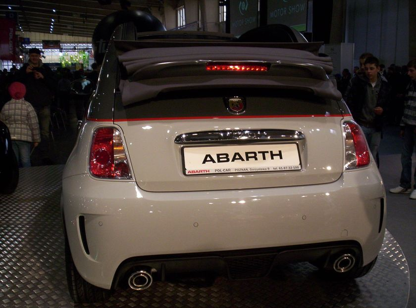 2011 Abarth 500C rear Poznan