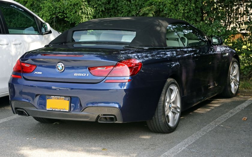 2014 BMW 650i Xdrive rear