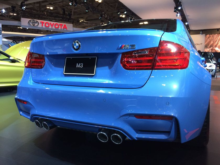 2014 BMW_F30_M3_rear_view_Toronto_Auto_Show
