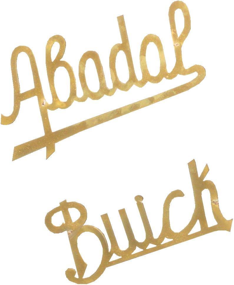 Abadal.-Abadal-Buick.-1917-1923