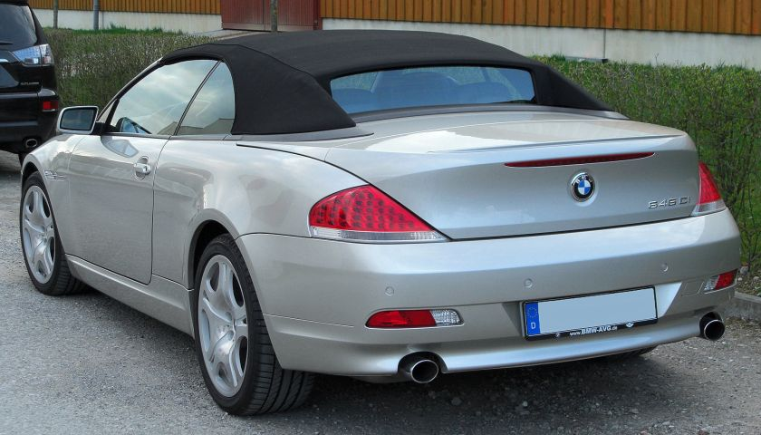 BMW 645Ci rear