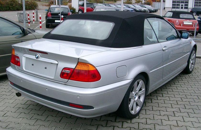 BMW E46 Cabrio rear