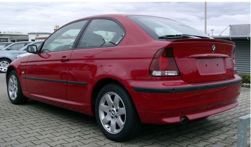 BMW E46 compact rear