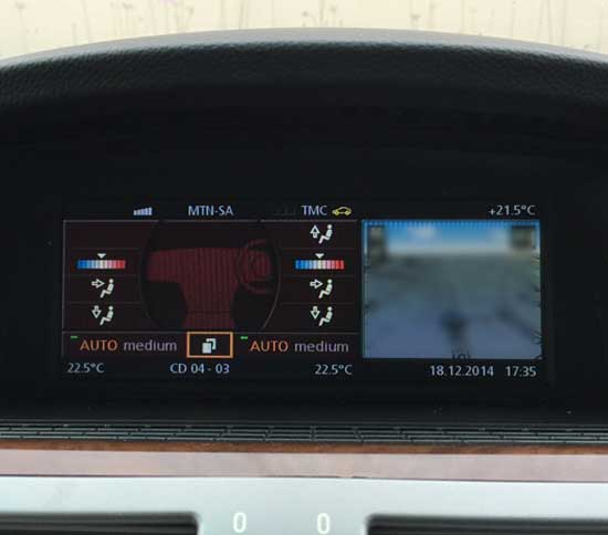 BMW E65 iDrive LCI 7 Series Climate