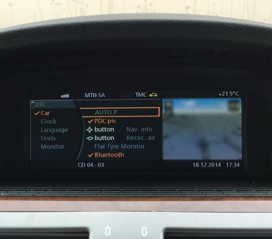 BMW E65 iDrive LCI Settings