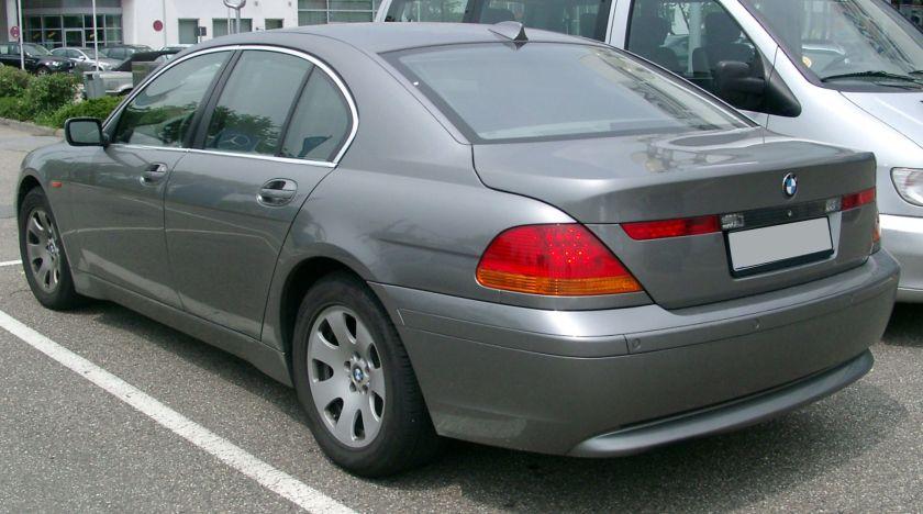 BMW E65 rear a