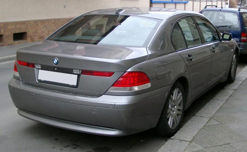 BMW E65 rear