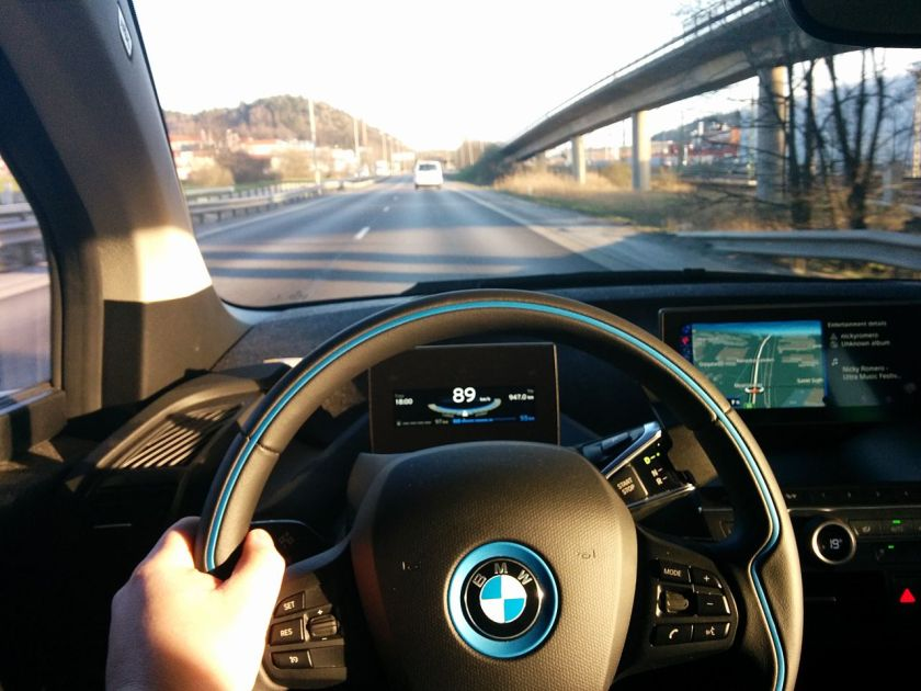 BMW i3 control panel
