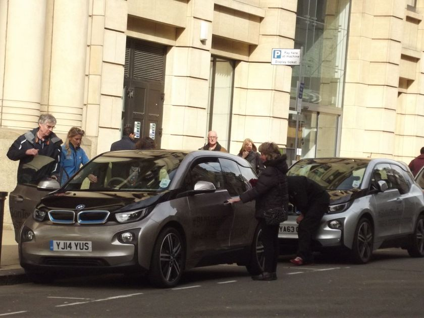 BMW i3 on Tour Colmore Row