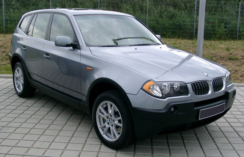 BMW X3 front